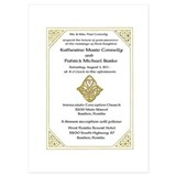 Celtic love knot wedding invitations 5 x 7 Flat Cards
