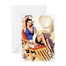 Cruise Girl Vintage Pinup Greeting Card