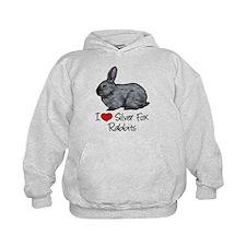 I Heart Silver Fox Rabbits Hoodie
