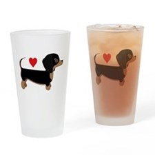 Dachshund Love Drinking Glass