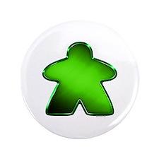 "Metallic Meeple - Green 3.5"" Button"