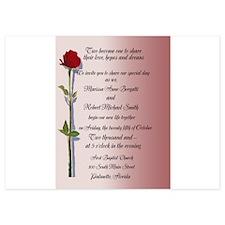 Long Stem Rose Wedding Invitations Invitations