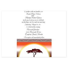 African Sunset Wedding Invitation Invitations
