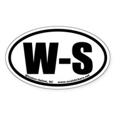 Winston-Salem, North Carolina Oval Decal
