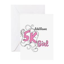 Customize 5k Girl Greeting Cards