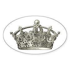 antique typographic vintage crown Decal
