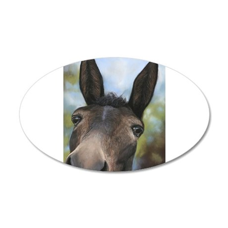 Brown Mule Art by Dawn Secord Wall Decal