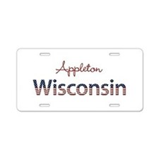 Custom Wisconsin Aluminum License Plate