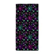 Glowing Linear Floral Pillow Beach Towel