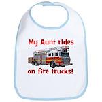 Aunt Rides Fire Trucks Bib