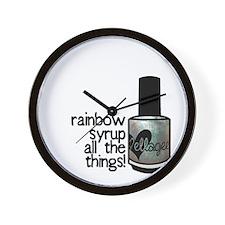 Rainbow Syrup Wall Clock