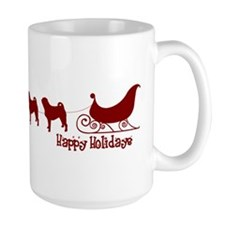 Unique Pug christmas Mug