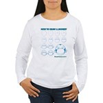 How to Draw a Monkey Women's Long Sleeve T-Shirt
