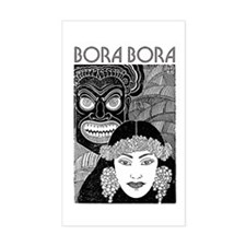 Vintage BORA BORA Rectangle Decal