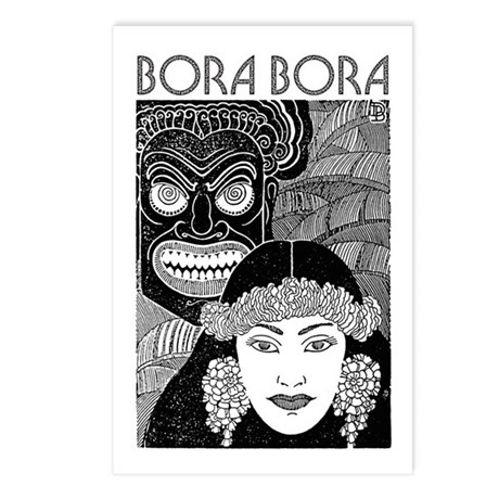 Vintage BORA BORA Postcards (Package of 8)