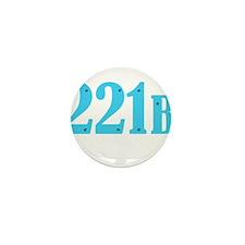 221 B Blue Mini Button (100 pack)