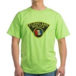 Cleveland Ohio Police Green T-Shirt