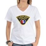 Cleveland Ohio Police Women's V-Neck T-Shirt