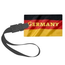Flag of Germany, labeled Luggage Tag