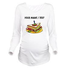 Custom Club Sandwich Long Sleeve Maternity T-Shirt