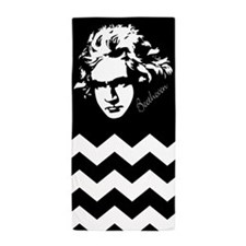 Beethoven Classical Music Chevron Beach Towel