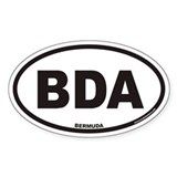 Bermuda BDA Euro Oval Decal