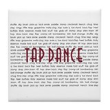 Tap Dance Tile Coaster