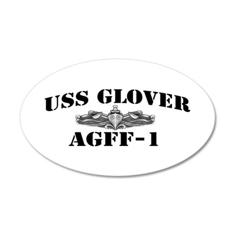 USS GLOVER 20x12 Oval Wall Decal