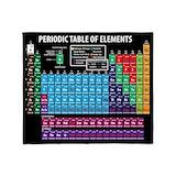 Periodic table Fleece Blankets