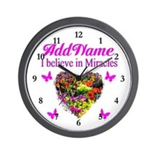 BELIEVE MIRACLES Wall Clock