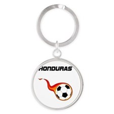Unique Honduras football Round Keychain