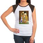 Kiss & Whippet Women's Cap Sleeve T-Shirt