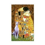 Kiss & Whippet Rectangle Sticker