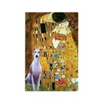 Kiss & Whippet Rectangle Magnet