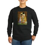 Kiss & Whippet Long Sleeve Dark T-Shirt