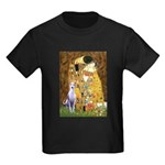 Kiss & Whippet Kids Dark T-Shirt