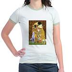 Kiss & Whippet Jr. Ringer T-Shirt