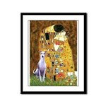Kiss & Whippet Framed Panel Print