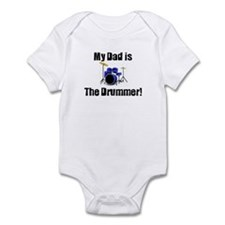 My Dad is the Drummer Infant Bodysuit