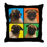 PUG SQUARES Throw Pillow