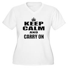 Custom Keep Calm Plus Size T-Shirt