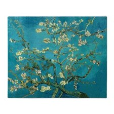Vincent Van Gogh Blossoming Almond Tree Throw Blan