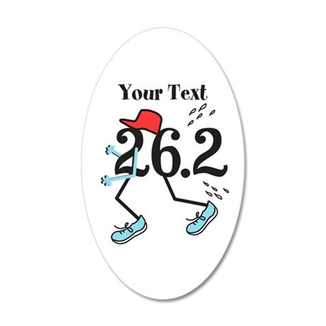 26.2 Optional Text 20x12 Oval Wall Decal