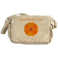 Custom Orange Flower Messenger Bag