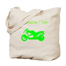 Custom Green Crotch Rocket Motorcycle Tote Bag