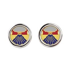 67th Armor Regiment.png Round Cufflinks