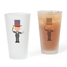 Cartoon Magician Drinking Glass