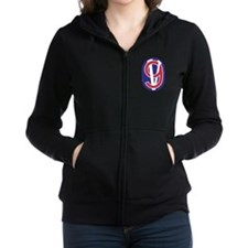 95th Division.png Women's Zip Hoodie
