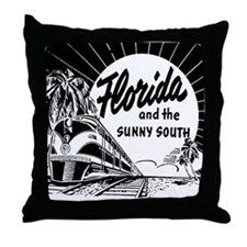 Vintage FLORIDA Throw Pillow