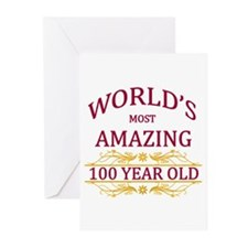 100th. Birthday Greeting Cards (Pk of 10)